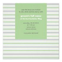 Amara Stripe pistachio Bachelor Party Card