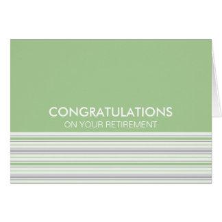 Amara Stripe Pistachio Congratulations Retirement Card