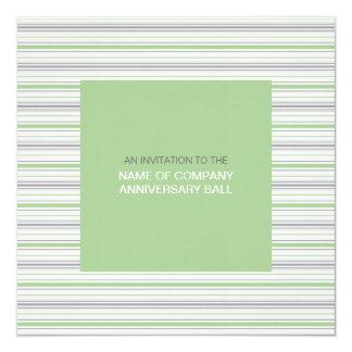 """Amara Stripe Pistachio Corporate Ball Invitation 1 5.25"""" Square Invitation Card"""