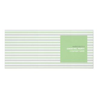 """Amara Stripe Pistachio Corporate Cocktail Invite 4"""" X 9.25"""" Invitation Card"""