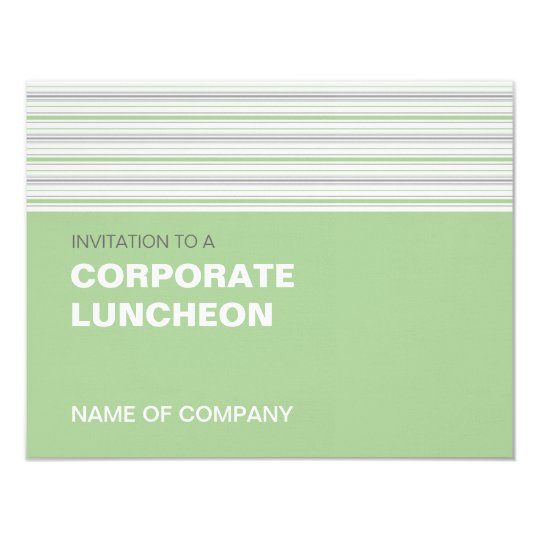 Amara Stripe Pistachio Corporate Luncheon Card