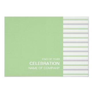 """Amara Stripe Pistachio Corporate Party Invitation 5"""" X 7"""" Invitation Card"""