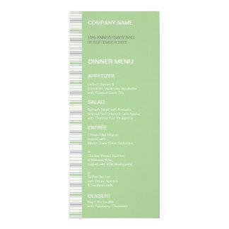 """Amara Stripe Pistachio Dinner Menu 4"""" X 9.25"""" Invitation Card"""