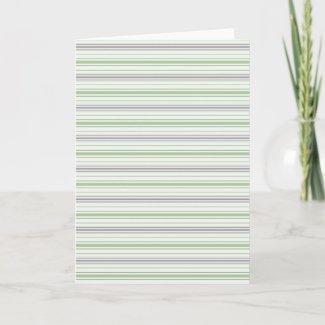 Amara Stripe pistachio Note Card card