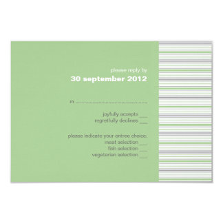 Amara Stripe pistachio RSVP Card Invitation