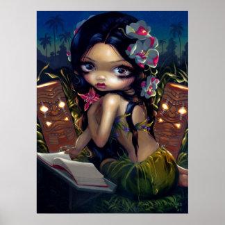Amara y el lowbrow del tiki del menehune de la IMP Posters