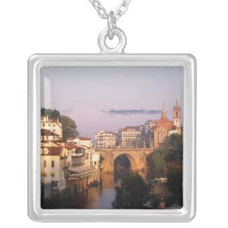 Amarante, Portugal Square Pendant Necklace