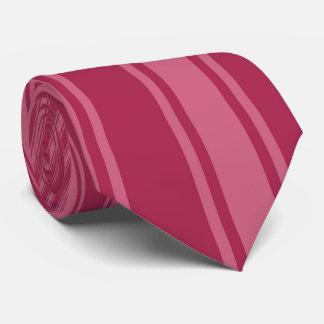 Amaranth deep purple Color Stripe Funky Pattern Tie