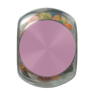 Amaranth Pink Background Glass Candy Jar
