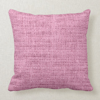 Pink Linen Throw Pillow : Solid Pink Color Pillows - Decorative & Throw Pillows Zazzle