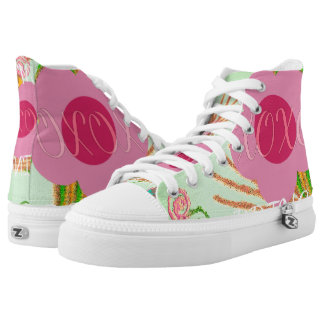 Amaranth Pink XOXO Princess wear your latest style High-Top Sneakers