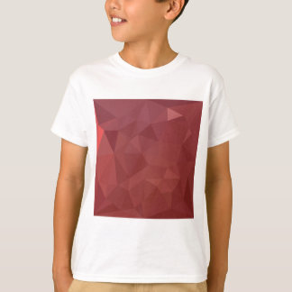 Amaranth Purple Abstract Low Polygon Background T-Shirt