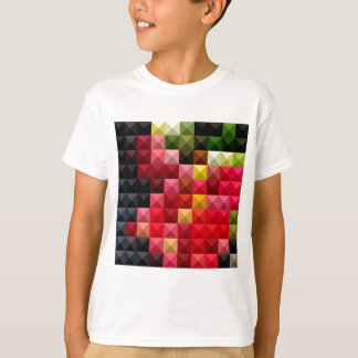 Amaranth Red Abstract Low Polygon Background T-Shirt
