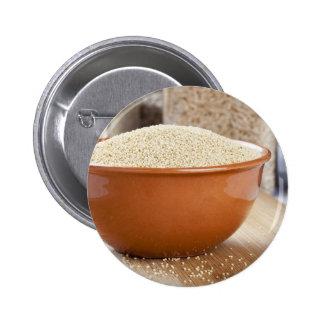 Amaranto sano pin redondo de 2 pulgadas
