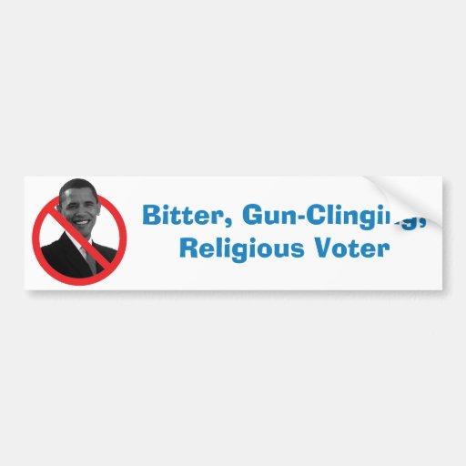 Amargo, Arma-Aferrándose, votante religioso Pegatina Para Auto