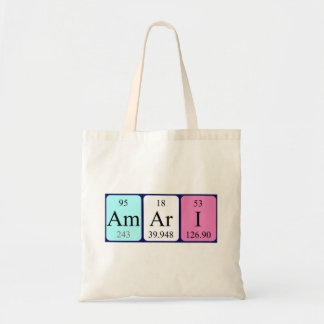 Amari periodic table name tote bag