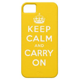 Amarillee mantienen tranquilo y continúan el caso funda para iPhone SE/5/5s