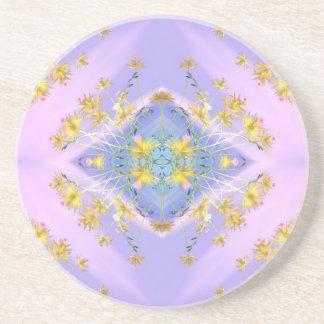 ~ amarillento Coaster~ de la elegancia Posavasos Manualidades
