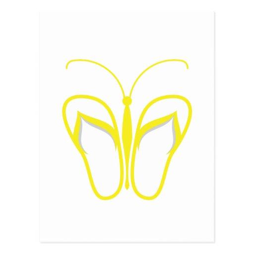 Amarillo 1 de Butterflops Tarjeta Postal
