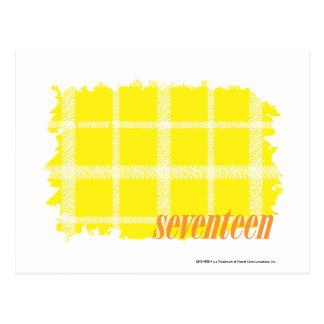 Amarillo 3 de la tela escocesa tarjeta postal