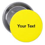 """Amarillo 3"""" plantilla de encargo del botón del tex pin"""