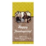 amarillo 4x8 y tarjeta floral de la acción de grac tarjetas fotográficas personalizadas