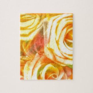 amarillo a cuadros de los rosas puzzle con fotos