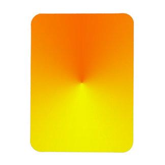 Amarillo a la pendiente anaranjada - plantilla mod iman rectangular