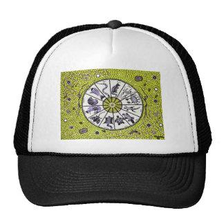 Amarillo aborigen del horóscopo gorras de camionero