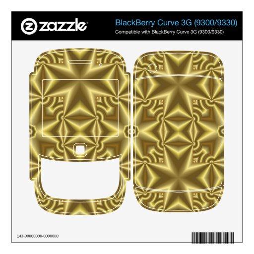 Amarillo abstracto cruzado BlackBerry curve skin