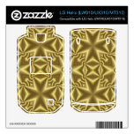 Amarillo abstracto cruzado LG helix skins