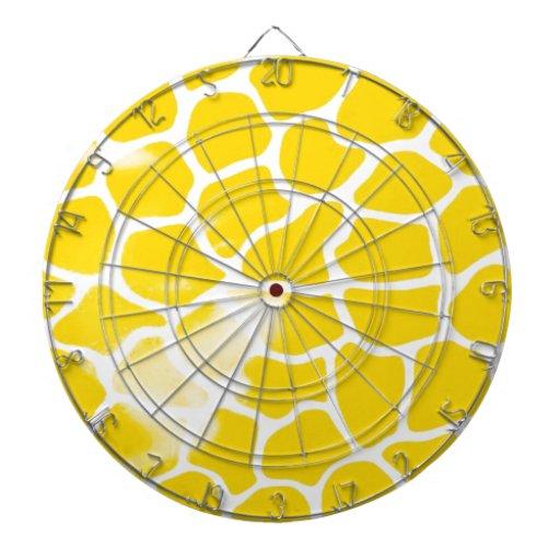 amarillo abstracto de la escala tabla dardos