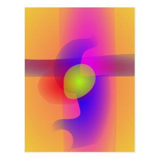 Amarillo abstracto de la imagen tarjetas postales