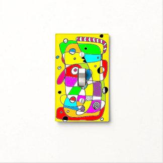 AMARILLO abstracto del Doodle del color Cubierta Para Interruptor