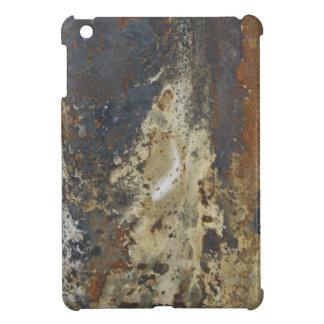 Amarillo abstracto del Grunge y moho de Brown iPad Mini Funda