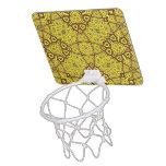 Amarillo abstracto del modelo canasta mini