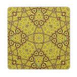 Amarillo abstracto del modelo posavasos de puzzle