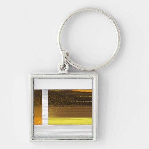 Amarillo abstracto llavero