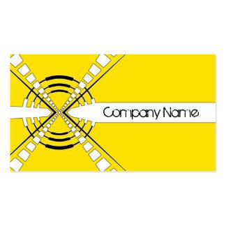 amarillo abstracto original del diseño del altavoz plantilla de tarjeta de negocio