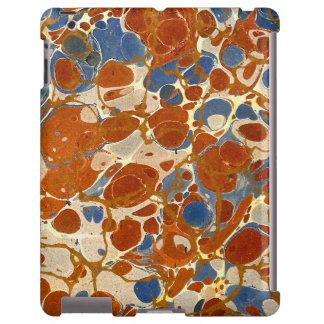 Amarillo abstracto veteado de la nata del rojo funda para iPad