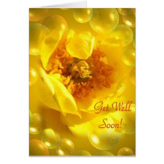 Amarillo amarillo amarillo tarjeta de felicitación