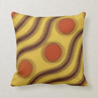 Amarillo anaranjado abstracto y almohada de tiro d