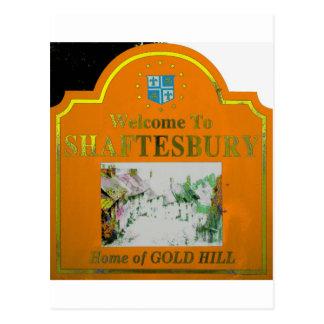 Amarillo anaranjado de Shaftesbury Tarjetas Postales