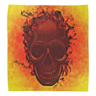Amarillo anaranjado del cráneo negro bandana