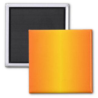 Amarillo anaranjado oscuro de encargo imán cuadrado