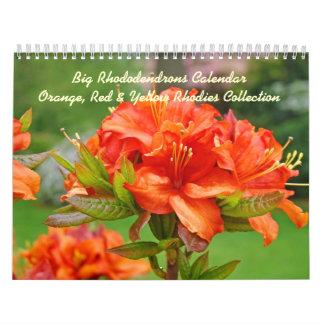 Amarillo anaranjado rojo de los rododendros de Rho Calendarios