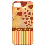 Amarillo anaranjado rojo del Flourish del árbol de iPhone 5 Case-Mate Cárcasa