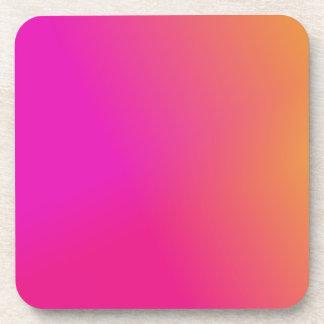 Amarillo anaranjado rosado Ombre Posavasos