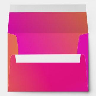 Amarillo anaranjado rosado Ombre Sobres