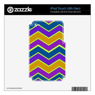 Amarillo arreglado Chevron brillante iPod Touch 4G Skin